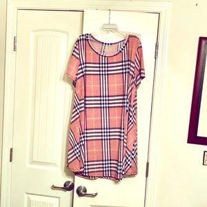 4/5x super soft swing short dress